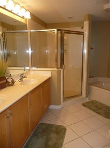 Master Bath with Large Shower and Jetted Tub