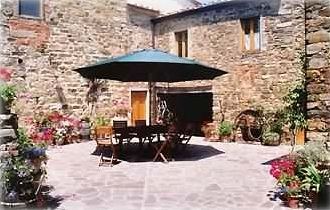 Courtyard at Villa Monte Poni