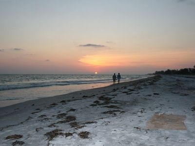 Beautiful sunsets and walks on the beach steps from your condo!