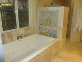 El Monte Suite master bath with jacuzzi tub for 2
