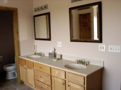 Double sink vanity in the Master Bath.