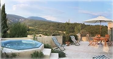 Spectacular views from the large private terrace with jacuzzi