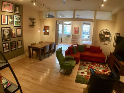 "1-bdrm in middle of OTR action; Just Renovated Fenced Parking on Premise; 65"" TV"