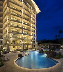 Jaco condo photo - Diamante del Sol Pool at night