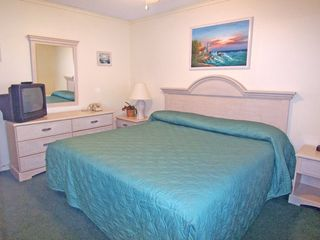 Sands Beach Club condo photo - Master Bedroom with King Size Bed, TV and your own private bath.