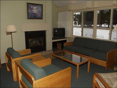 You will Enjoy Relaxing at the End of the Day in Front of the Gas Fireplace