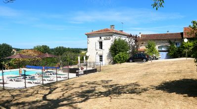 Luxury Farmhouse and Gite with spectacular rural views, heated pool, games barn.