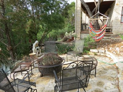 Spicewood house rental - Fire Pit with lots of chairs