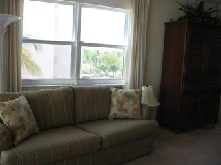 Fort Myers Beach condo photo - Sleeper sofa in living room