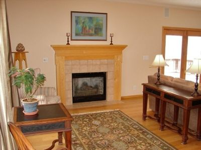 Sitting/Piano Room w gas fireplace