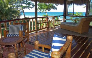 Cabarete estate photo - right on the beach 3 Cacique executive suites and 1 supersize bohio de playa