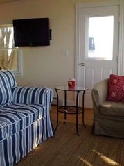 Harpswell cottage photo - Living room with TV