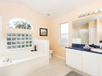 Master Bath with separate shower and garden tub