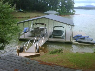 Dock with swim platform