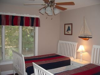 Kiawah Island house photo - 2nd Bedroom with two Twin Beds, Roll away bed & TV