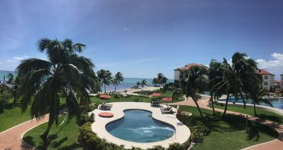 THE BEAUTY OF BELIZE VIEWED FROM  B5 VERANDA AT GRAND CARIBE RESORT