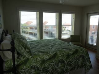 Gulf Shores property rental photo - upstaires bedroom, king bed, view of ocean.