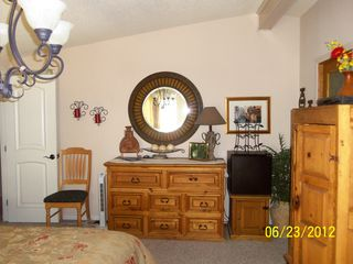 Thousand Palms house photo - master bedroom, lots of storage, walk in closet, TV in cabinet