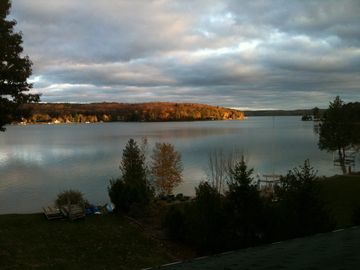 Walloon Lake house rental - View from the deck spring