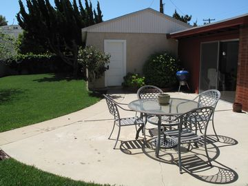 Backyard - Patio and garage