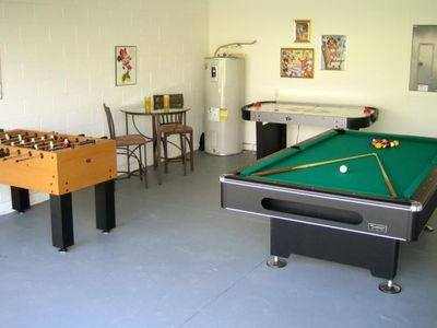 Game room w/ Pool, Foosball & Air Hockey