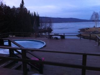 Chazy Lake house photo - View of Pool & Lake off upper deck