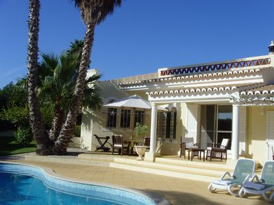 Meia Praia villa rental - View of the Pool & Villa
