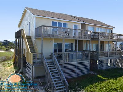 #90 The Flying Tiger Inn. Oceanfront Duplex, Ocean View, Elevator, Hot Tub!
