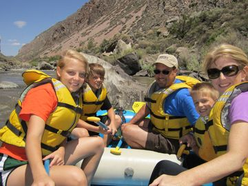 rafting in nearby Taos on the Rio Grande river