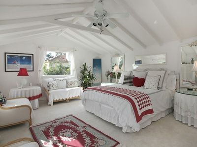 Upstairs Bedroom Suite with a small Ocean View.