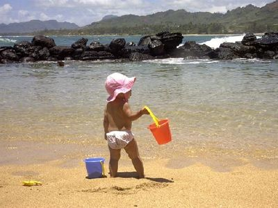 Natural salt water pool is great for kids and is right next to the beach.