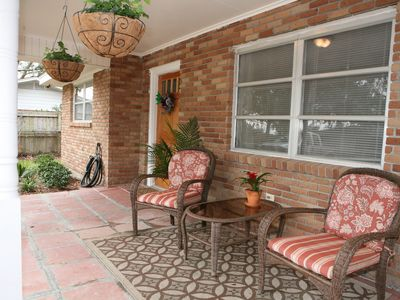 Welcome to Cocoa's Cottage! Spacious front porch...
