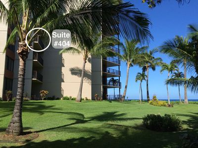Listen to the the waves while watching the ocean from the privacy of your lanai at suite #404 at Ka'anapali Shores, only a football throw away from the ocean!