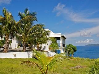 Water Island house photo - Front view out to the blue Caribbean Sea