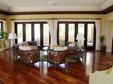 The upper level sitting room for family games and activities.