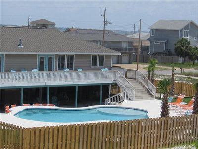Sunbathe from an upper deck , lounge in the shade of the patio, or just dive in!