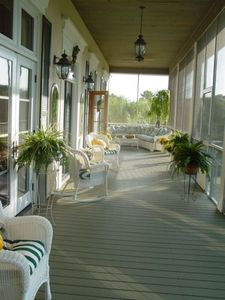 Beautiful lazy Southern porch...
