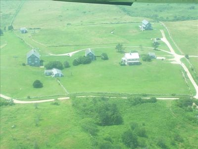 Aerial of Lewis Farm: The Building is in the top left corner of the photo