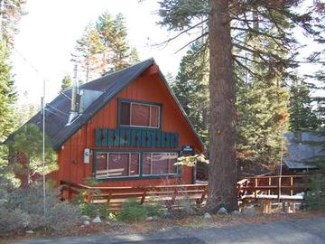 Chambers Landing house rental - front view of this classic Chambers Chalet