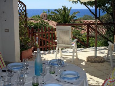 Villa overlooking the sea at 100 meters from the beach. Internet WiFi. Geremeas.