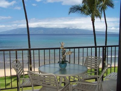 Spectacular view of Molokai from our private third floor lanai