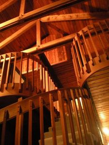 CHALET: Stairs up to the loft