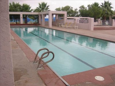 Santa Fe pool and Spa across from the house