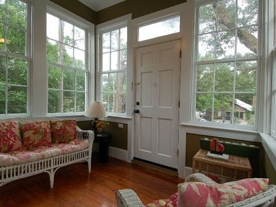 Front sunroom.. plenty of natural light, great for reading.