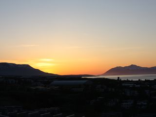 Northeast Iceland apartment photo - The view from the garden at midnight in the end of may.