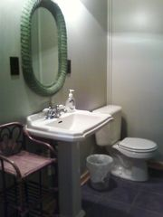 Baldwin / Walhalla cottage photo - Gray cottage bath with a warm floor.