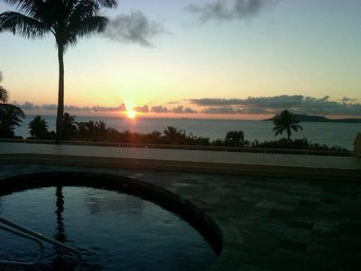 The most gorgeous sunset from your private pool deck spanning 3500 sq ft.