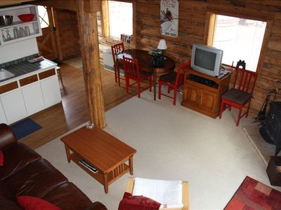 Alta Cabin Living Area and Kitchen Area