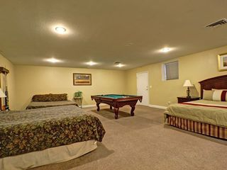 Las Vegas house photo - Basement with 3 extra king beds and pool table