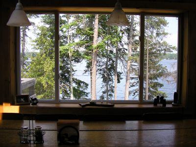View of lake from dining table